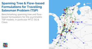 Read more about the article Spanning Tree & Flow based Formulations for the Asymmetric Traveling Salesman Problem (TSP)
